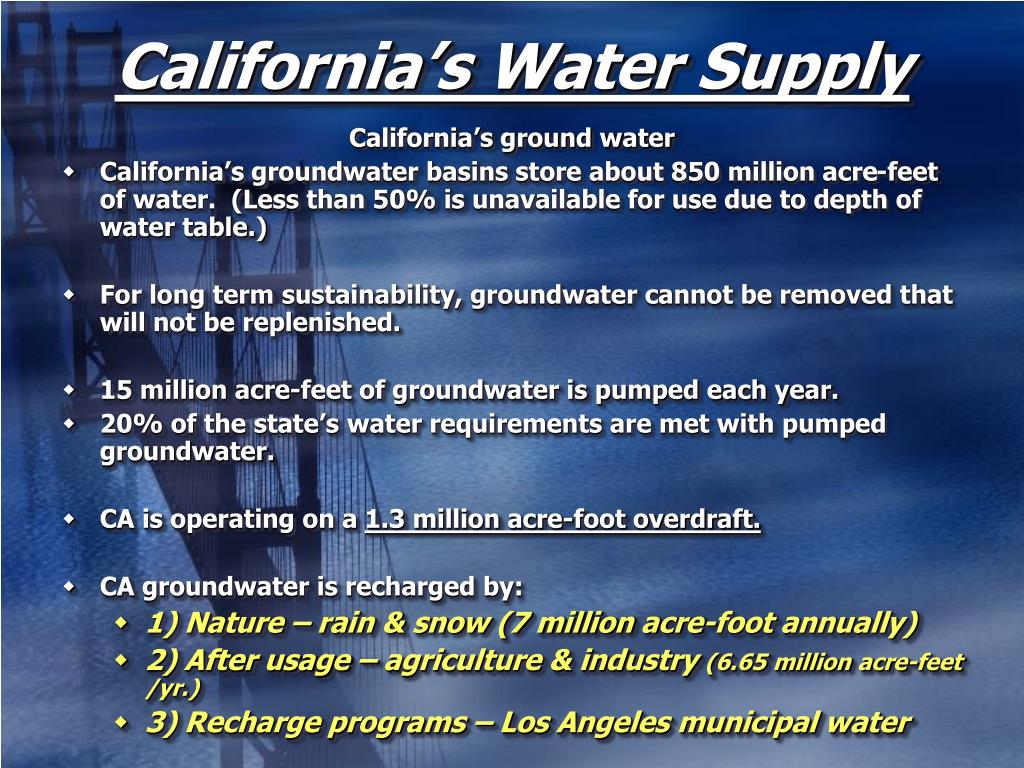 California's Water Supply