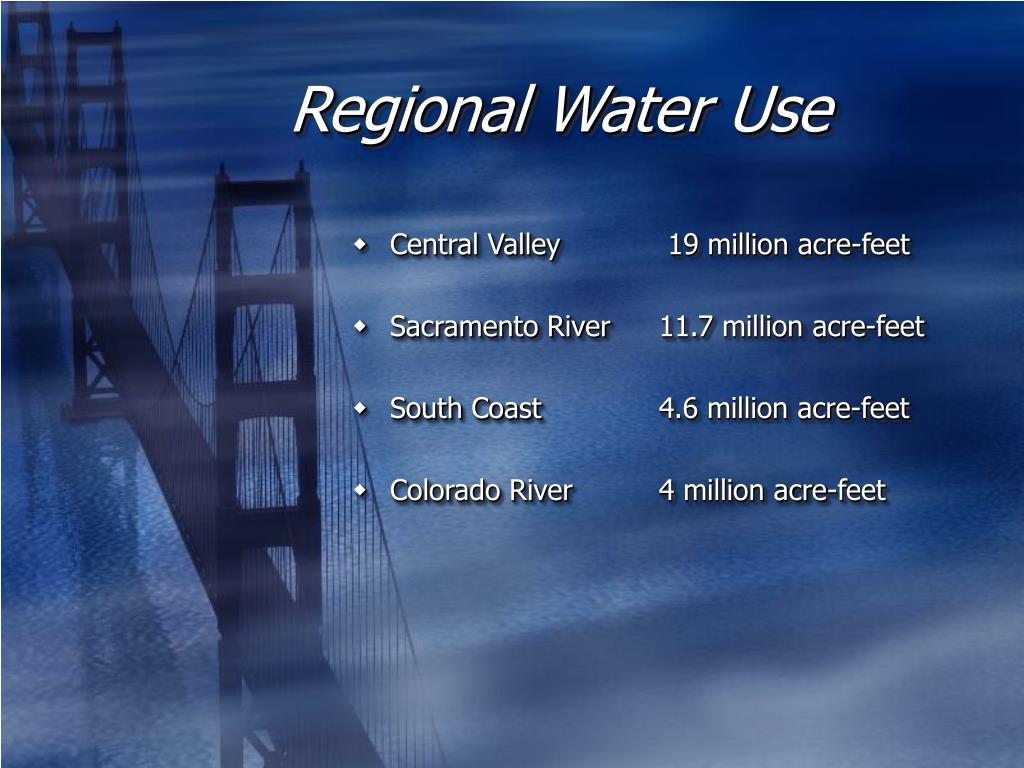 Regional Water Use