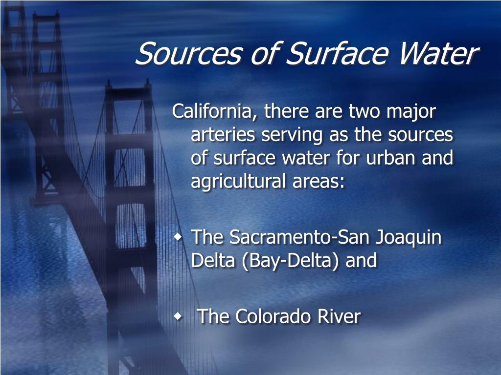Sources of Surface Water