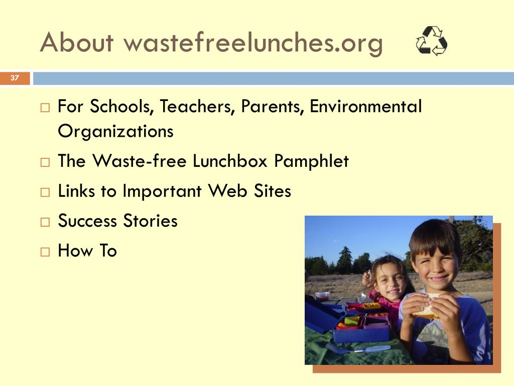 About wastefreelunches.org