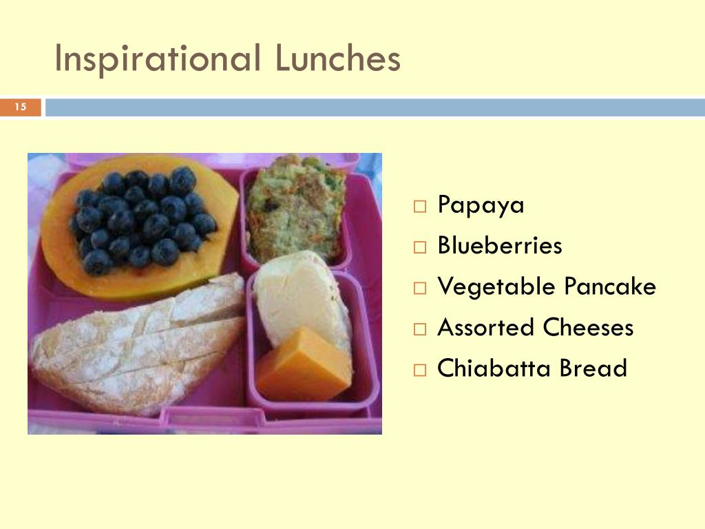 Inspirational Lunches