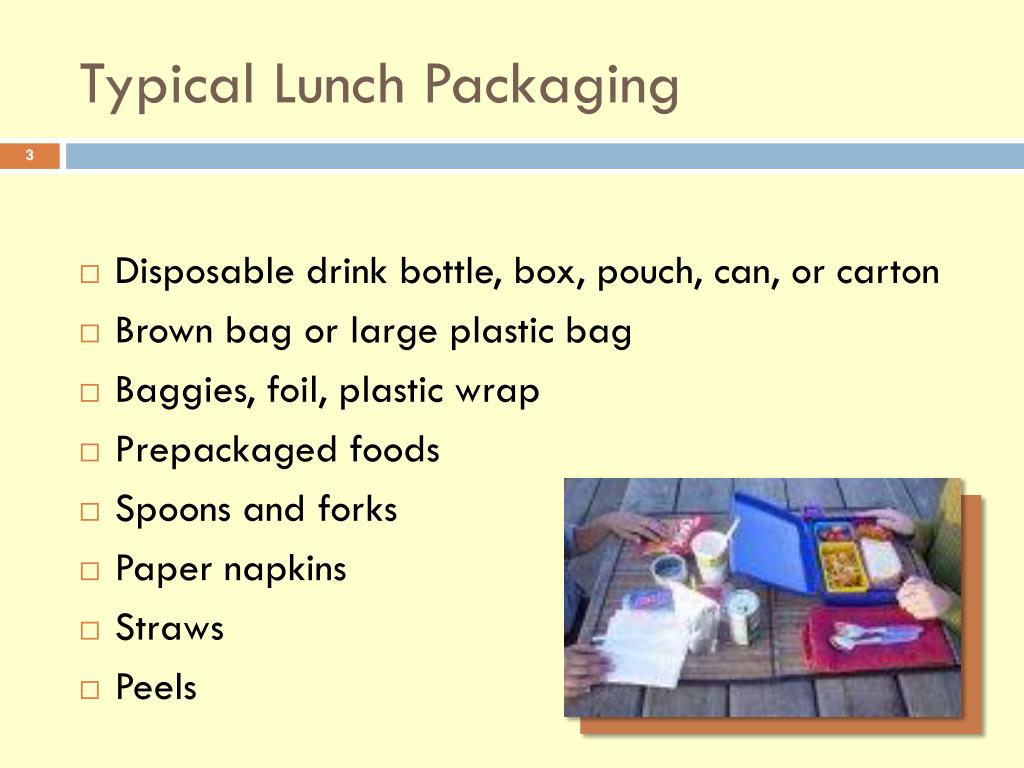 Typical Lunch Packaging