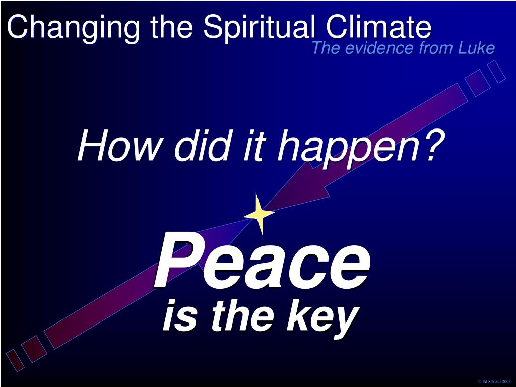 Changing the Spiritual Climate