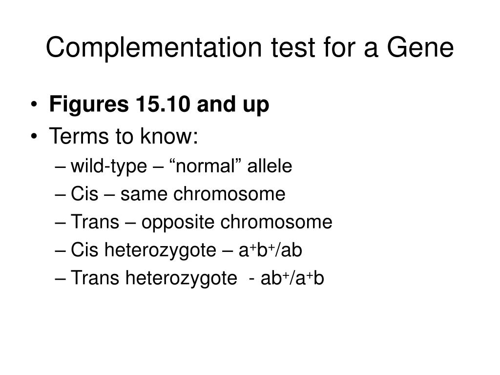 Complementation test for a Gene