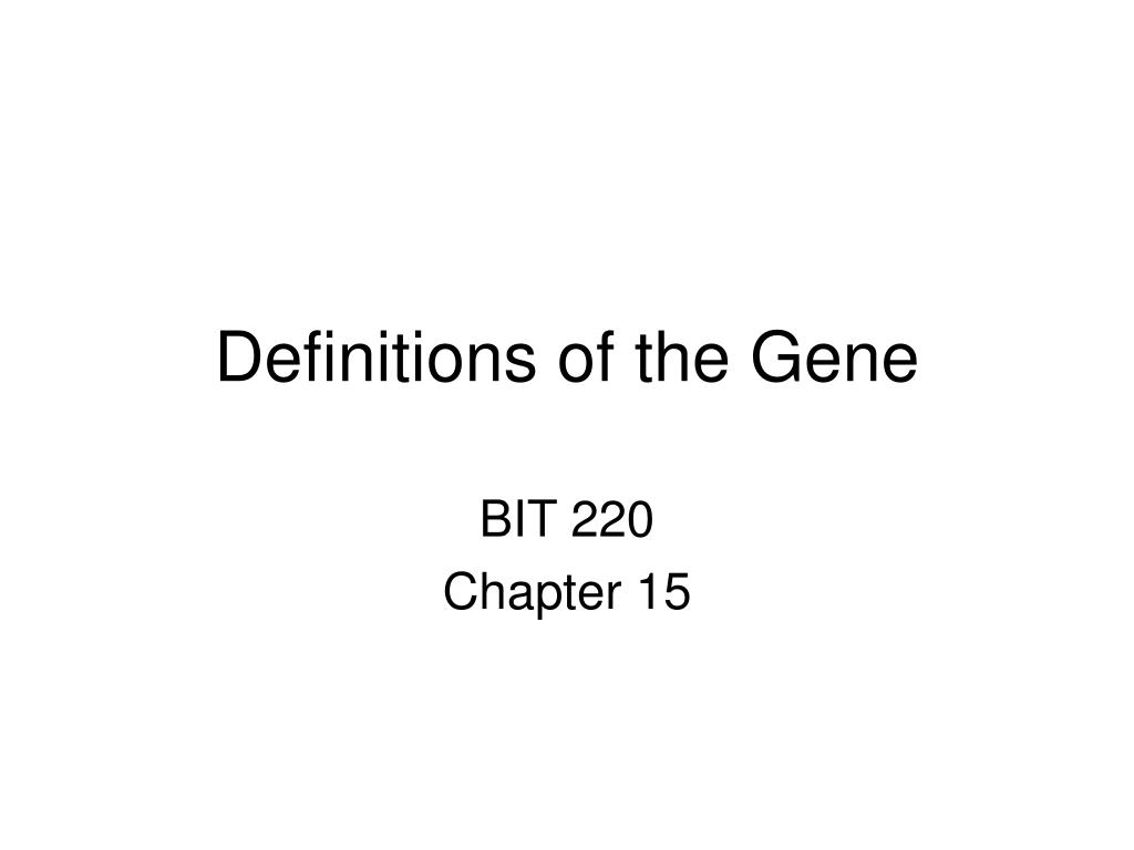 definitions of the gene