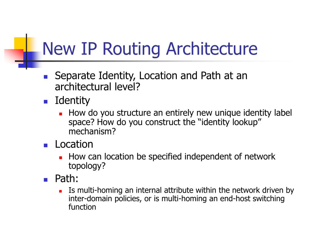 New IP Routing Architecture