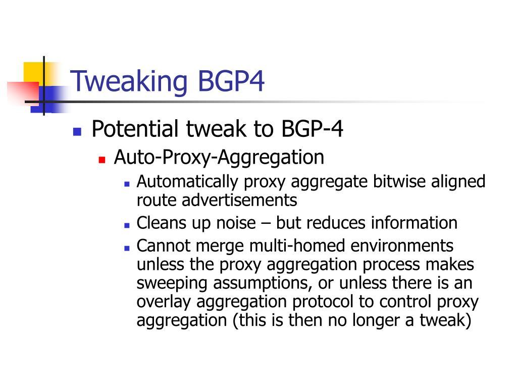 Tweaking BGP4