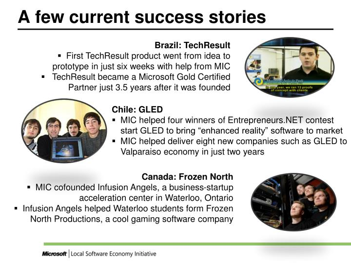 A few current success stories l.jpg