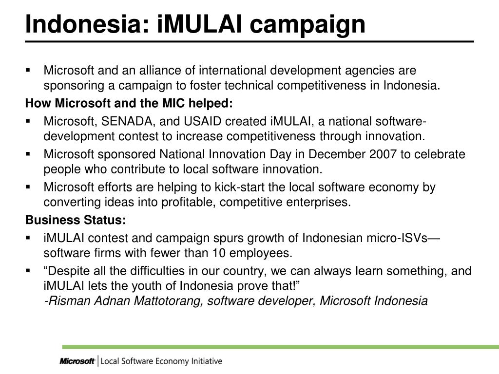 Indonesia: