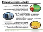 upcoming success stories