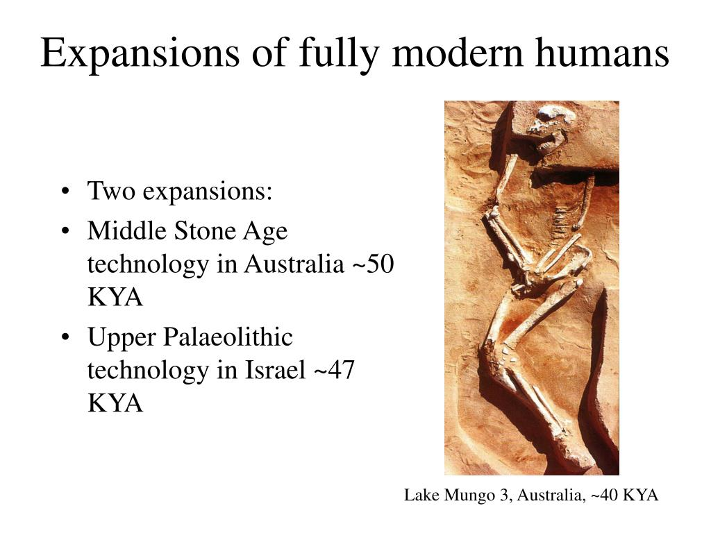 Expansions of fully modern humans