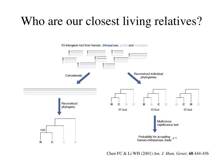 Who are our closest living relatives