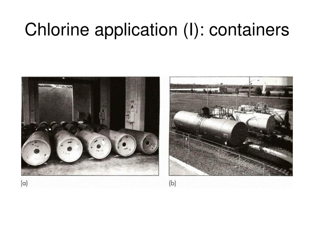 Chlorine application (I): containers