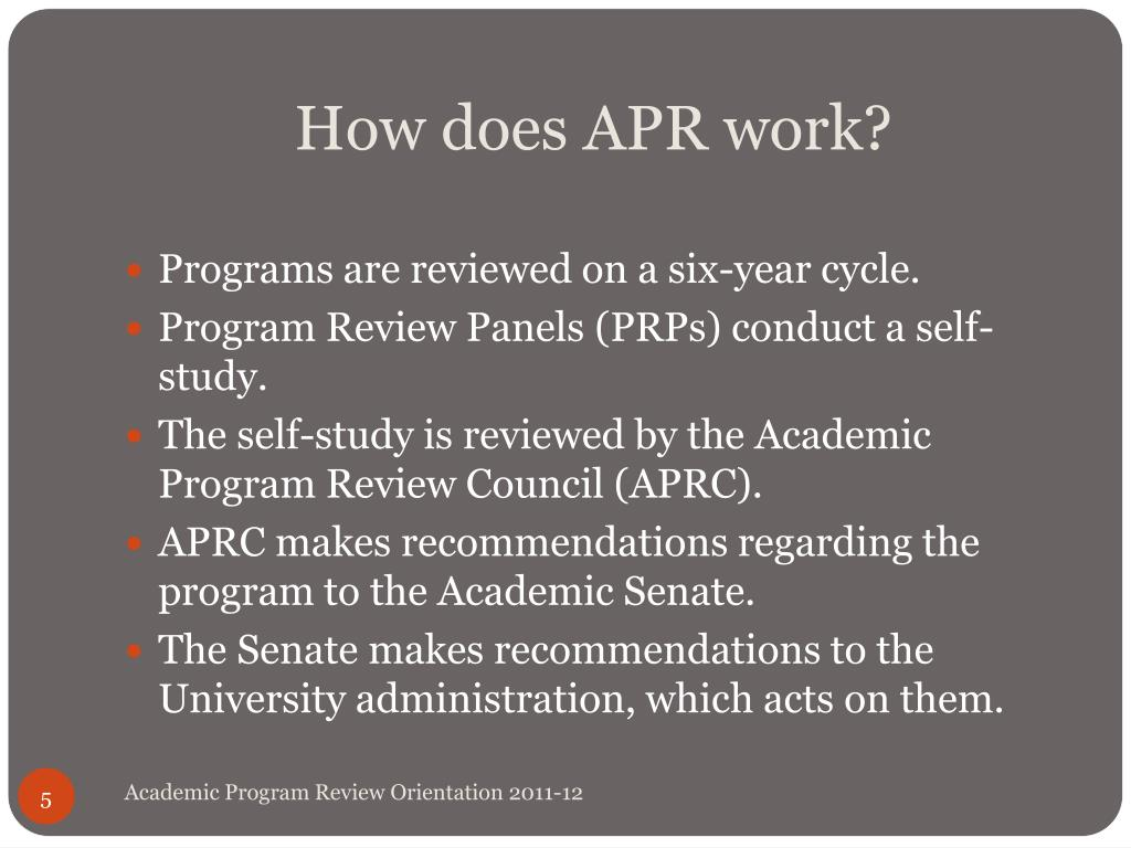 How does APR work?