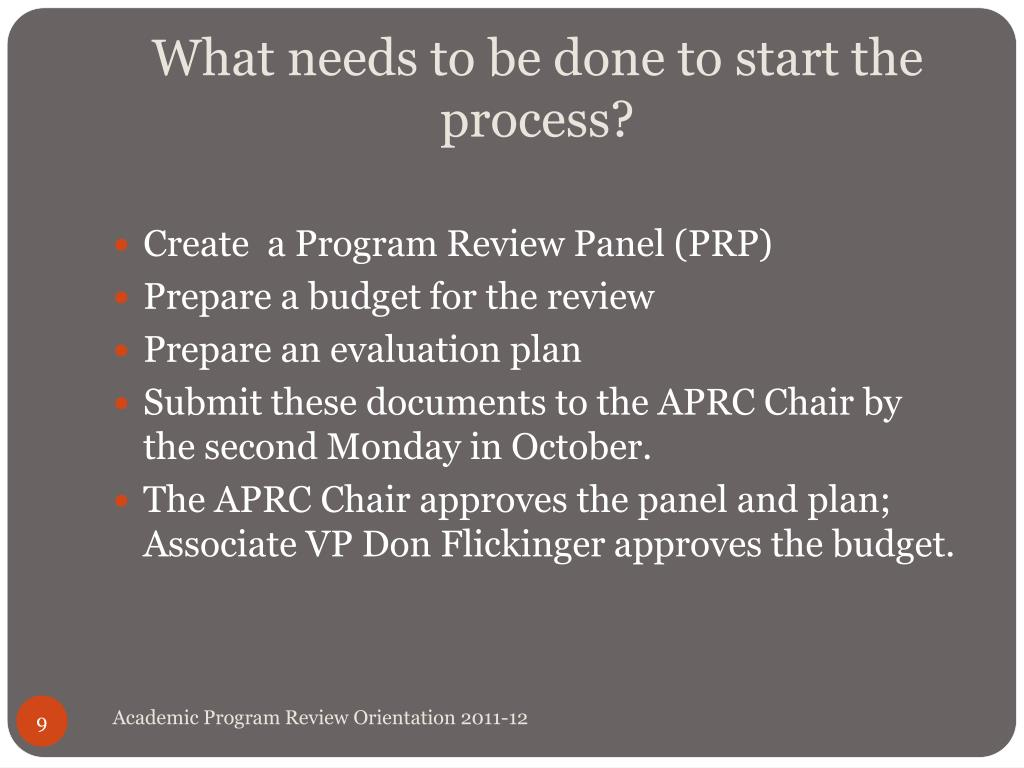 What needs to be done to start the process?