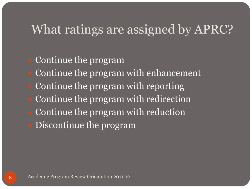 What ratings are assigned by APRC?