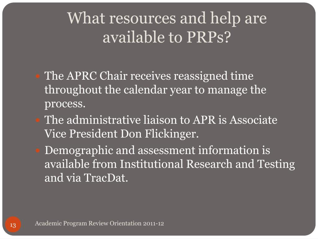 What resources and help are available to PRPs?