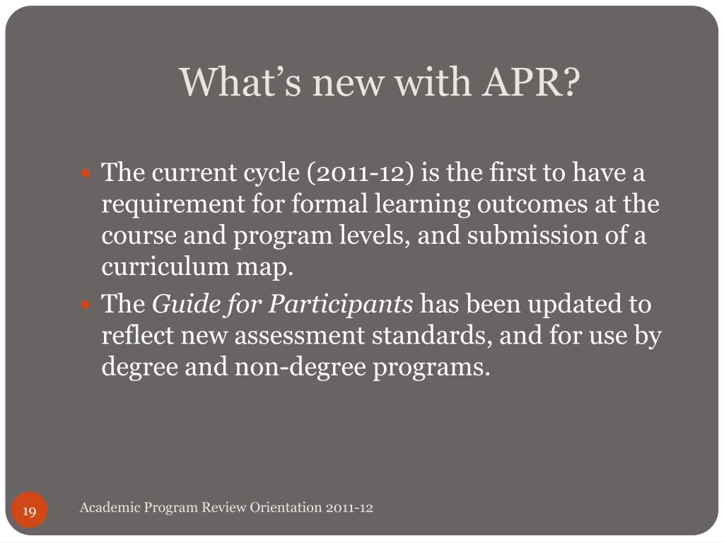 What's new with APR?