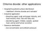 chlorine dioxide other applications