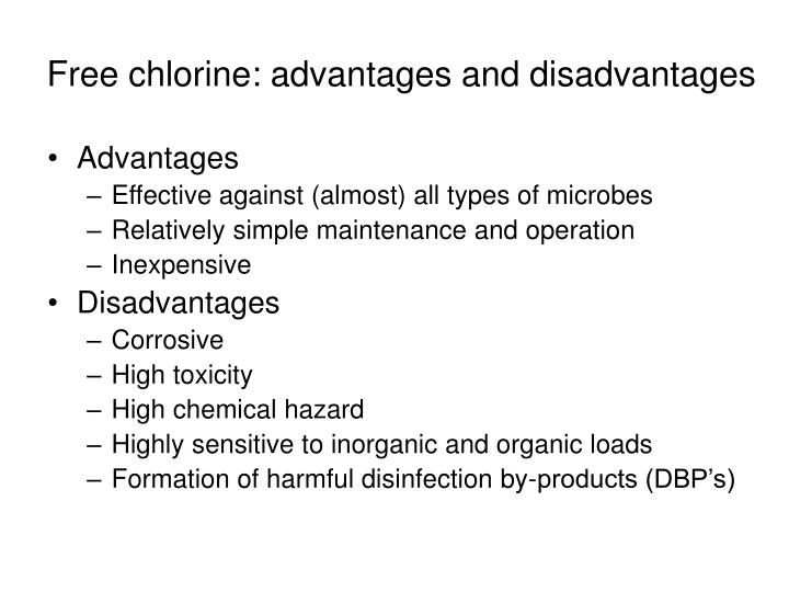 Free chlorine: advantages and disadvantages