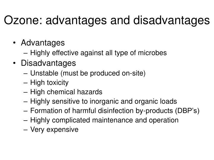 Ozone: advantages and disadvantages