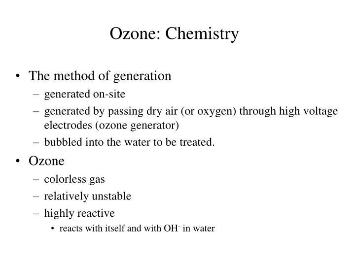 Ozone: Chemistry