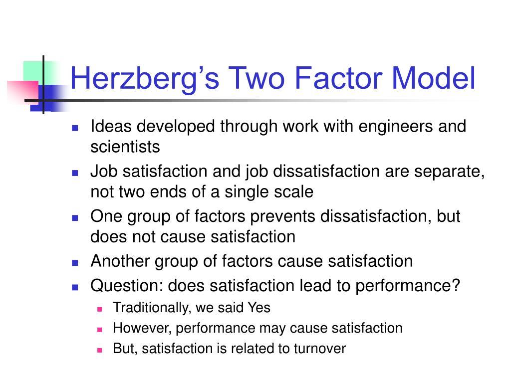 Herzberg's Two Factor Model
