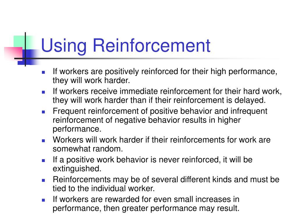 Using Reinforcement