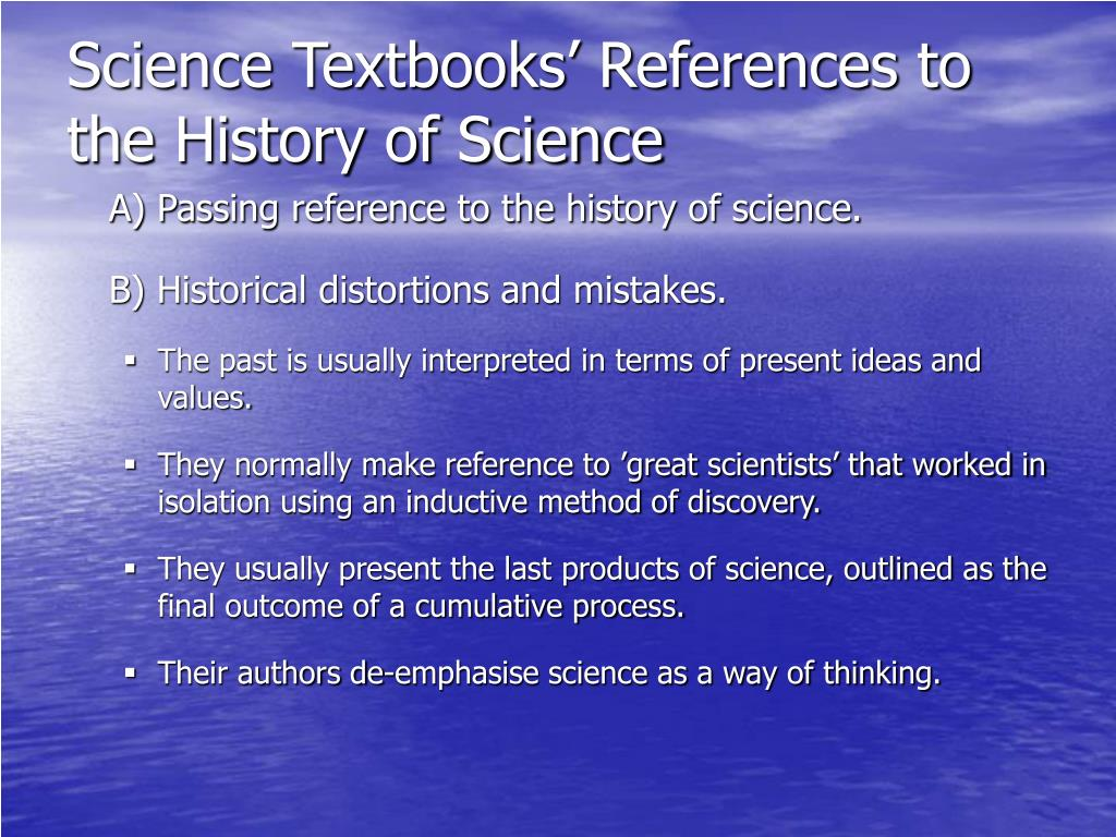 Science Textbooks' References to the History of Science