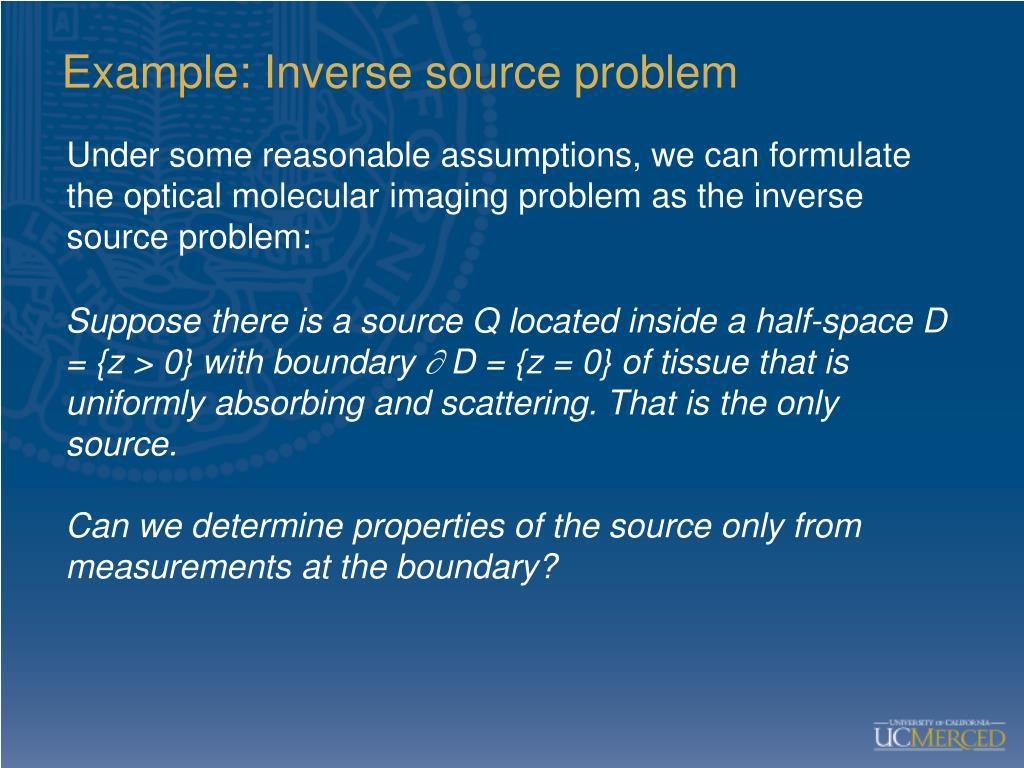 Example: Inverse source problem