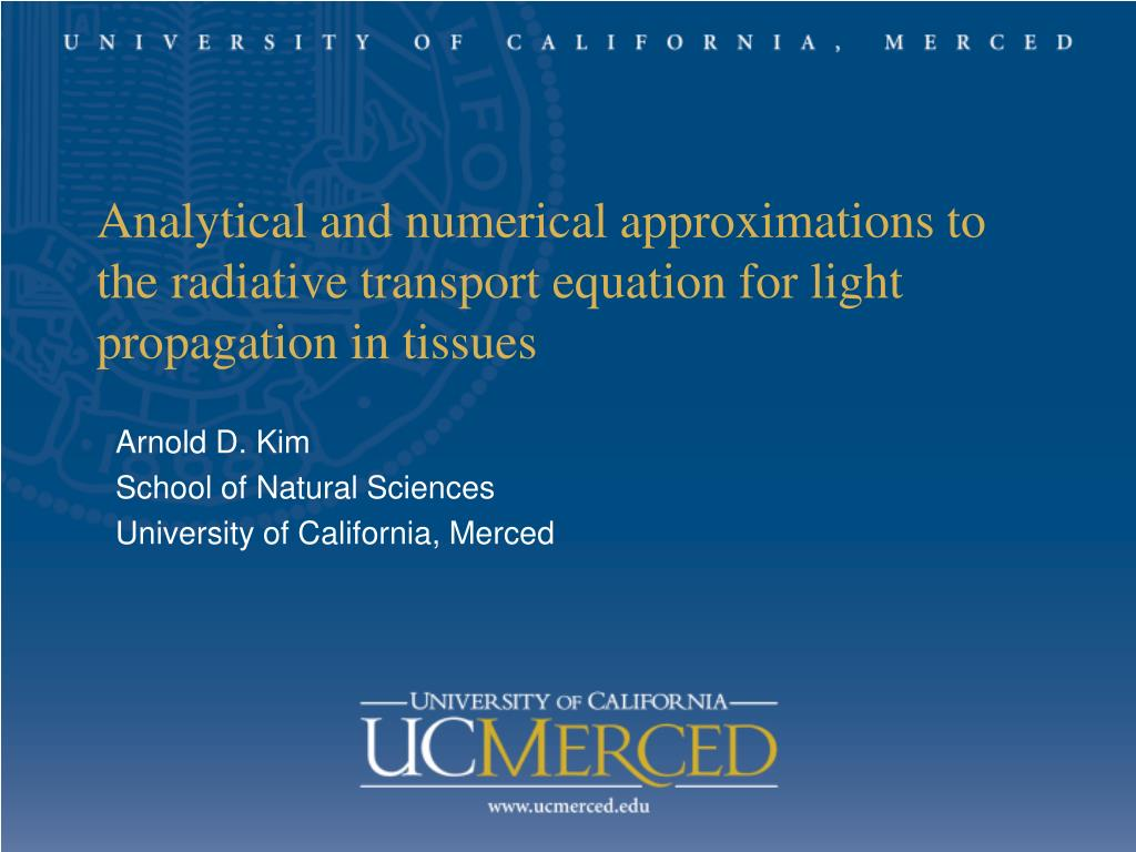 Analytical and numerical approximations to the radiative transport equation for light propagation in tissues