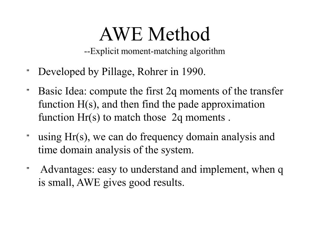 AWE Method