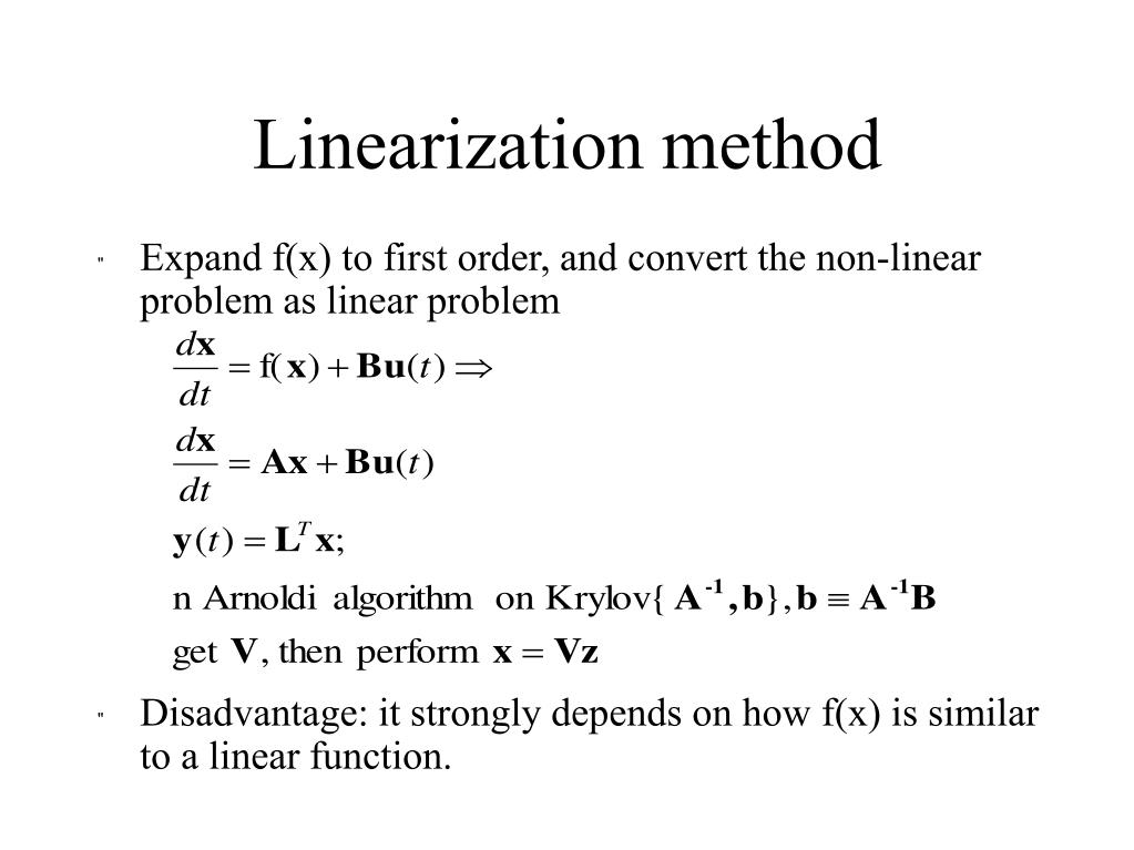Linearization method