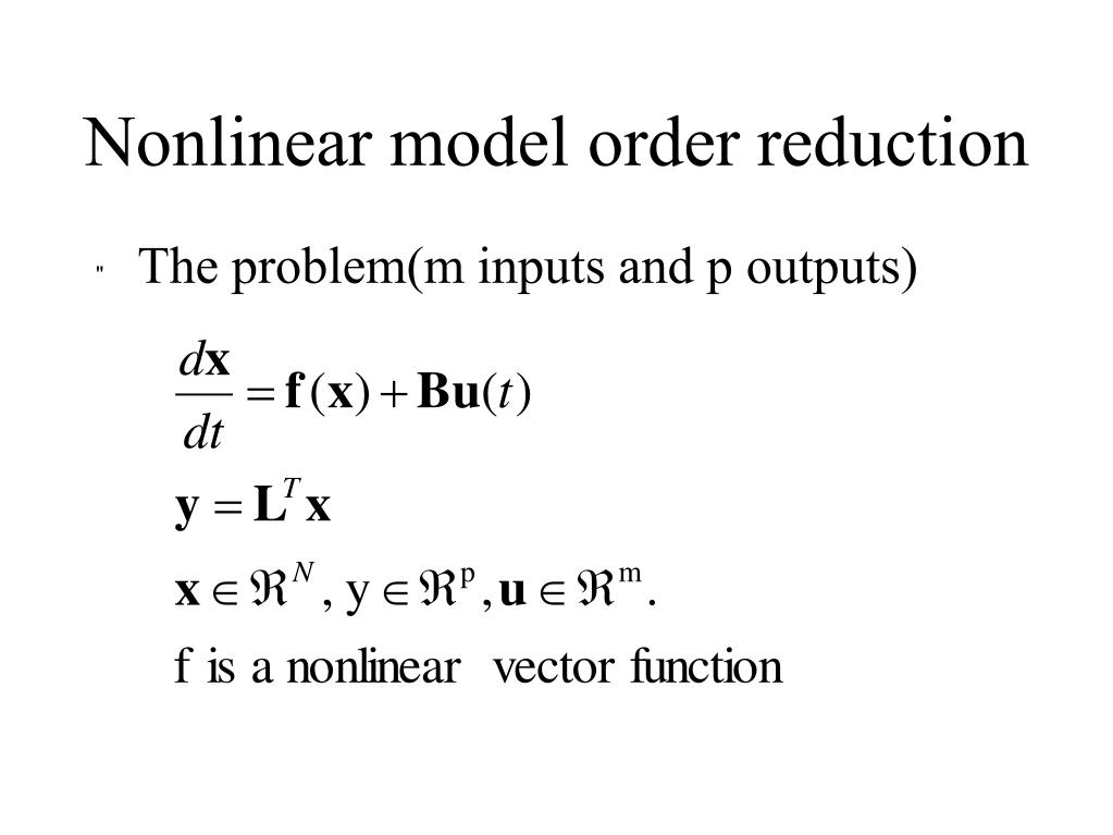 Nonlinear model order reduction
