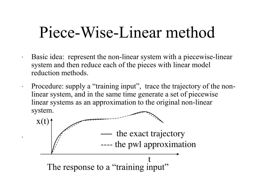 Piece-Wise-Linear method