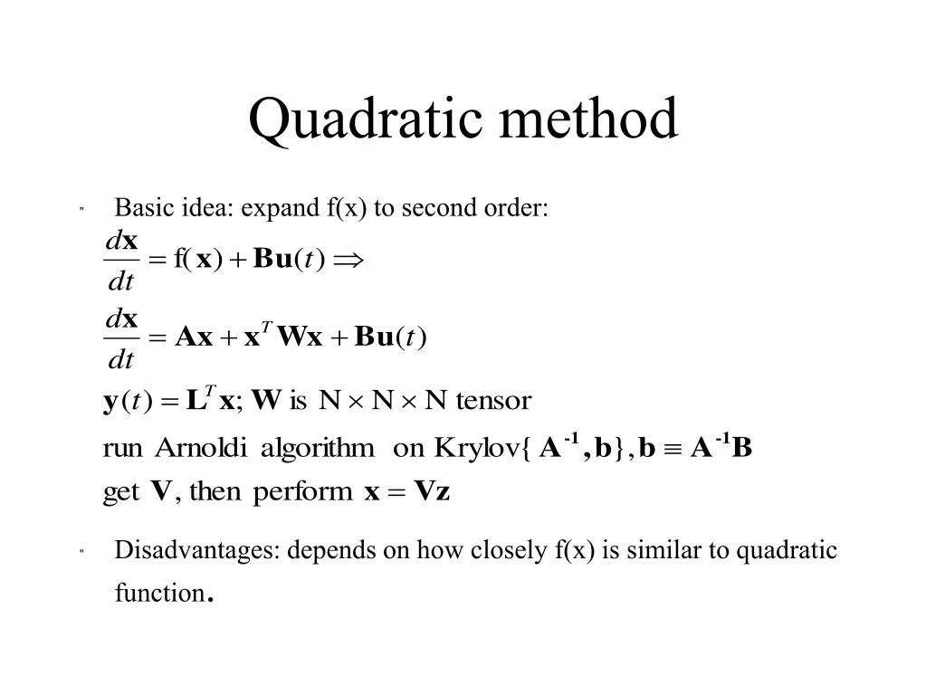 Quadratic method