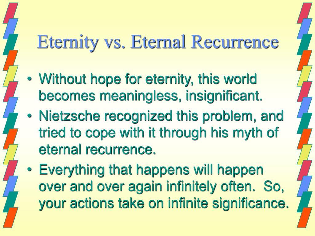 Eternity vs. Eternal Recurrence