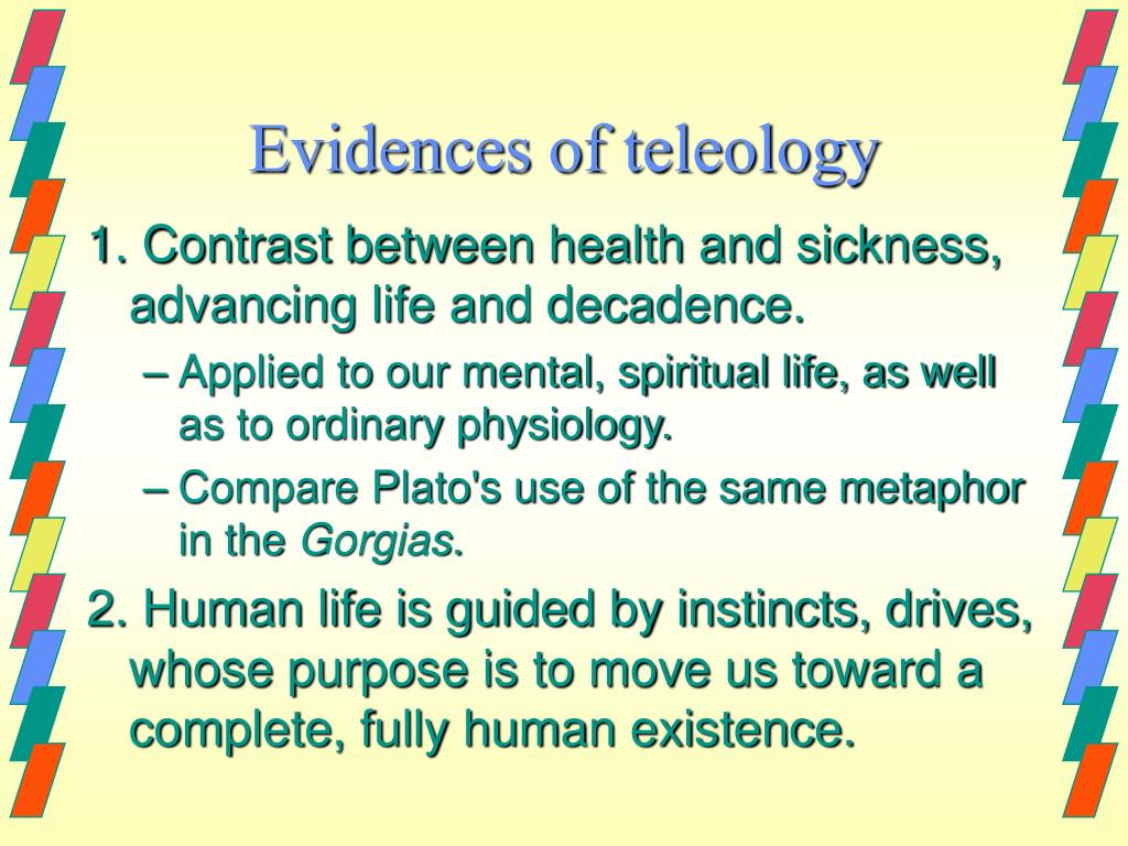 Evidences of teleology