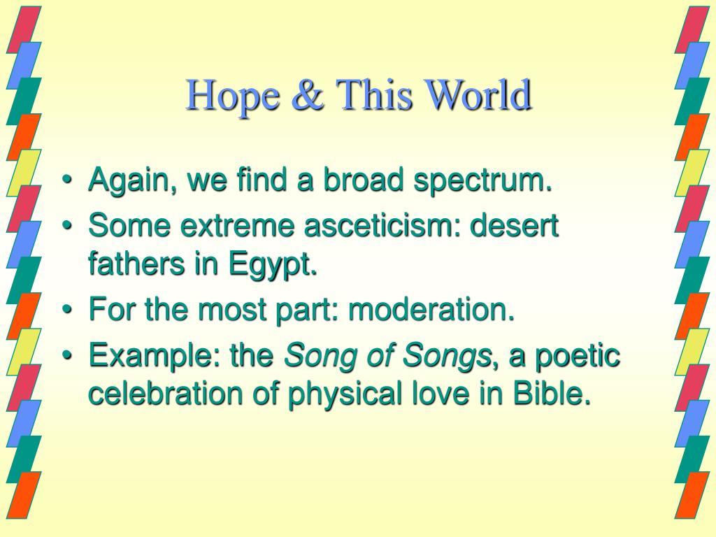 Hope & This World