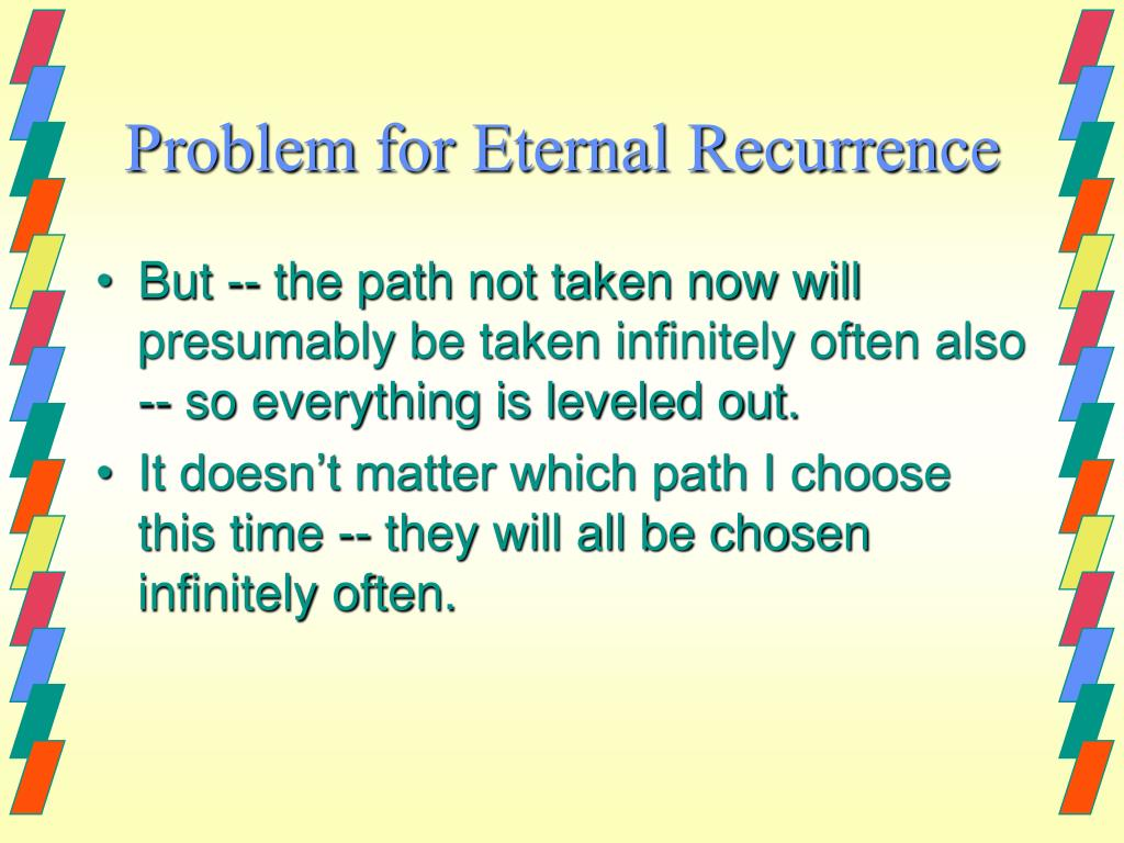 Problem for Eternal Recurrence