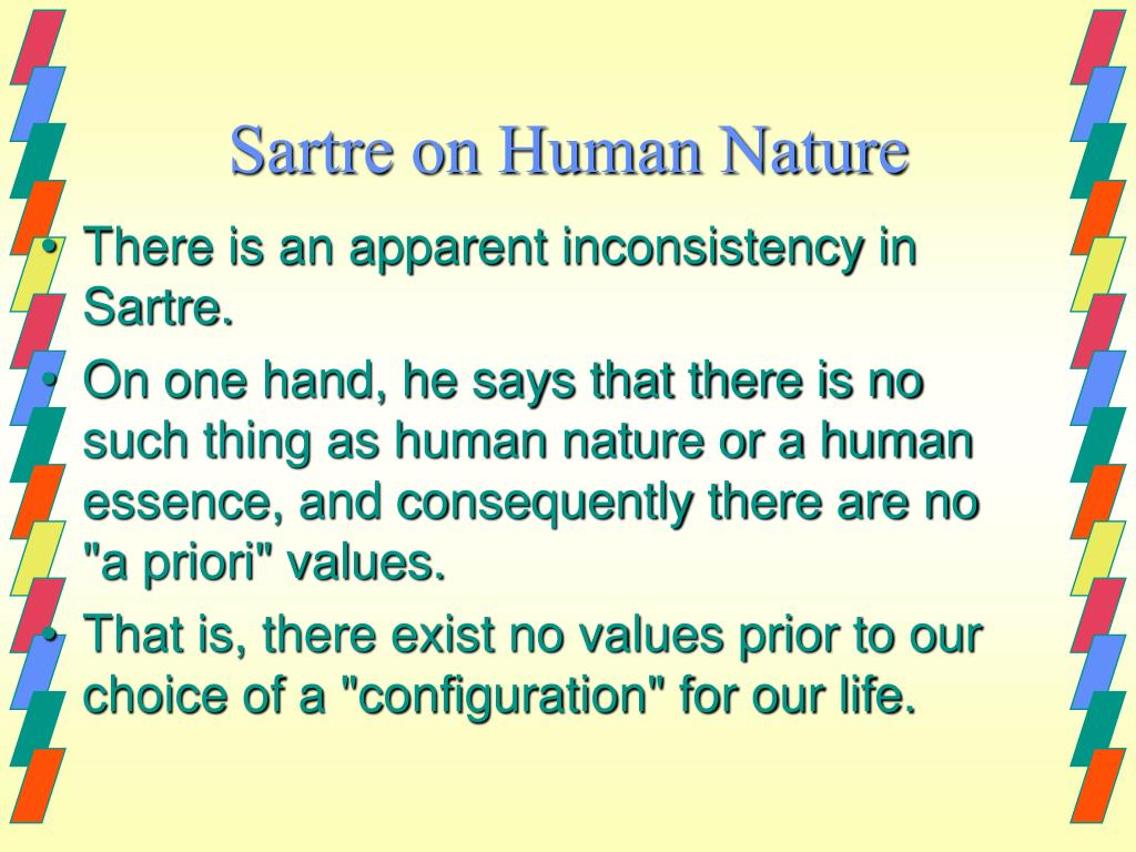 Sartre on Human Nature