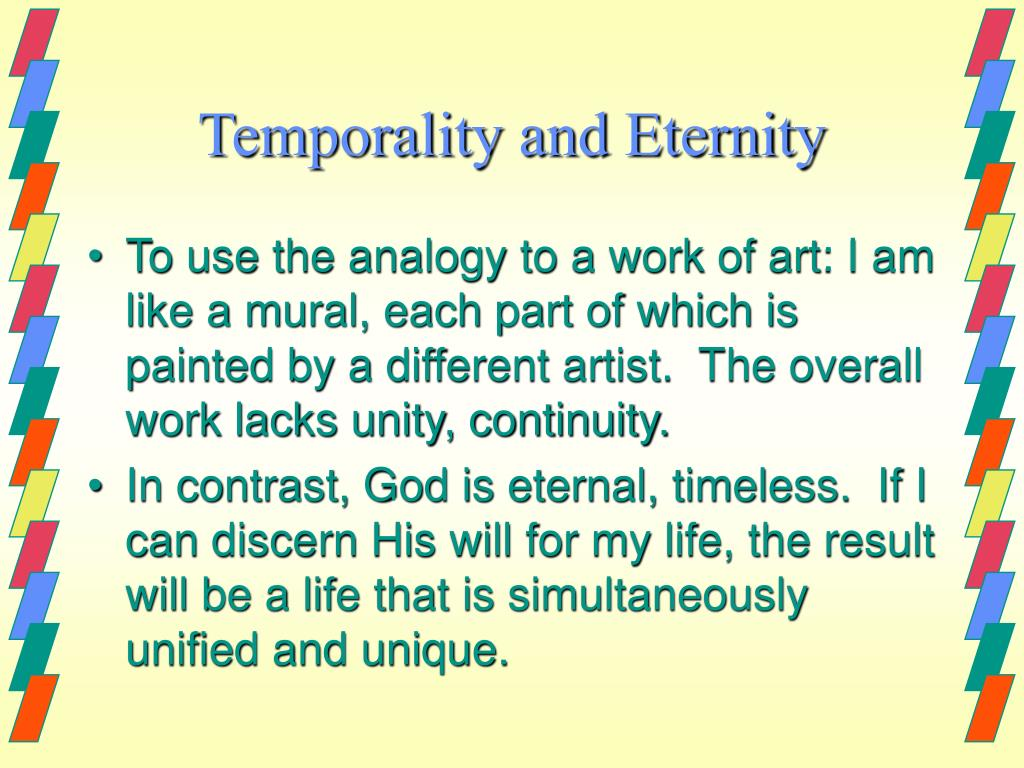 Temporality and Eternity