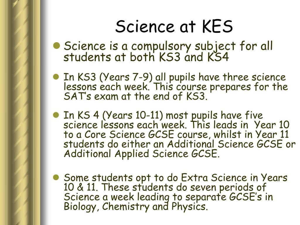 Science at KES