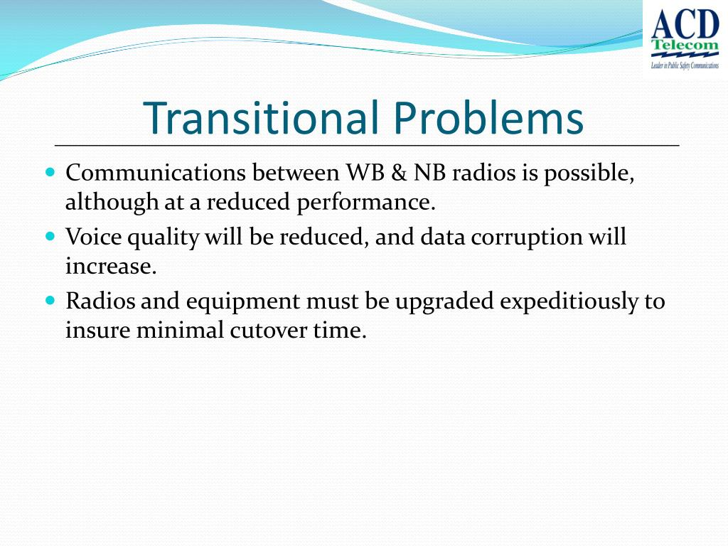 Transitional Problems