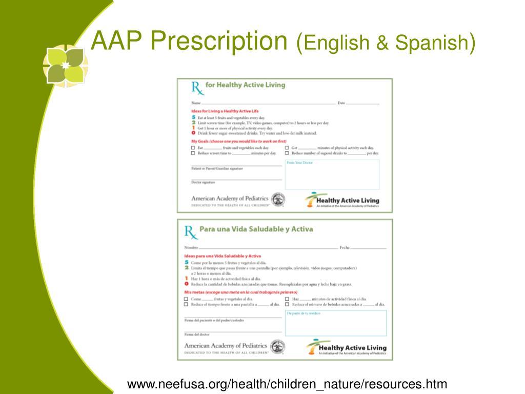 AAP Prescription