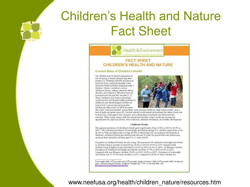 Children's Health and Nature