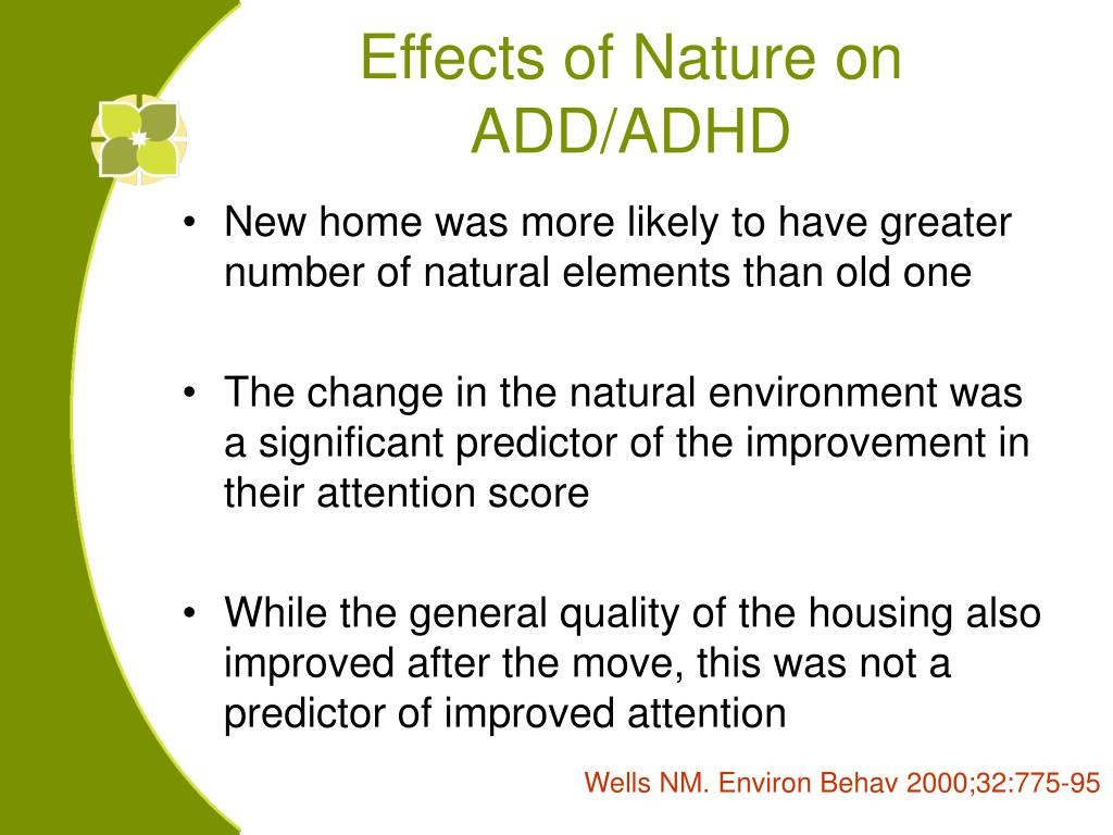 Effects of Nature on ADD/ADHD