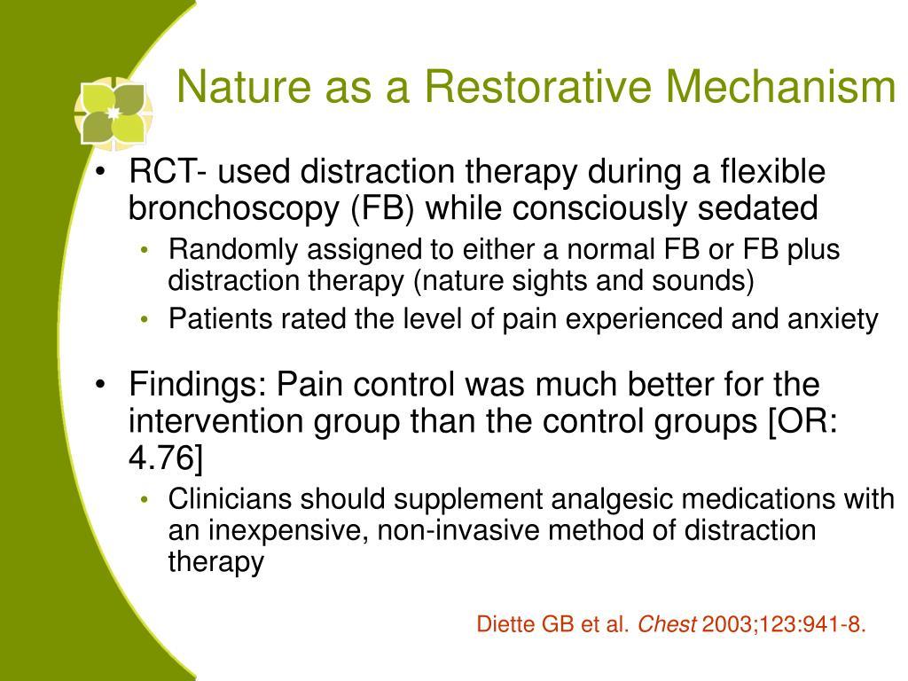 Nature as a Restorative Mechanism