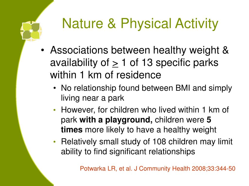 Nature & Physical Activity