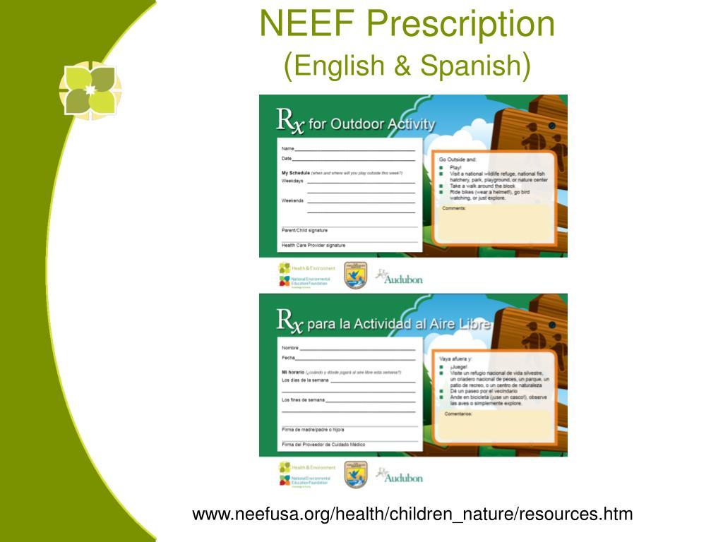 NEEF Prescription